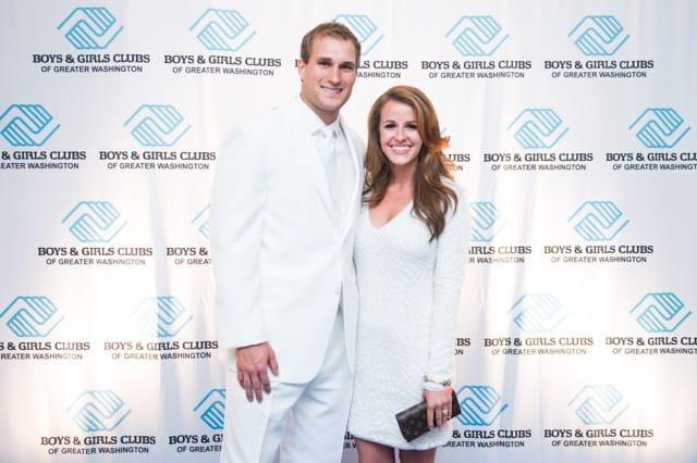 Washington Redskins Quarterback Kirk Cousins and wife Julie Hampton