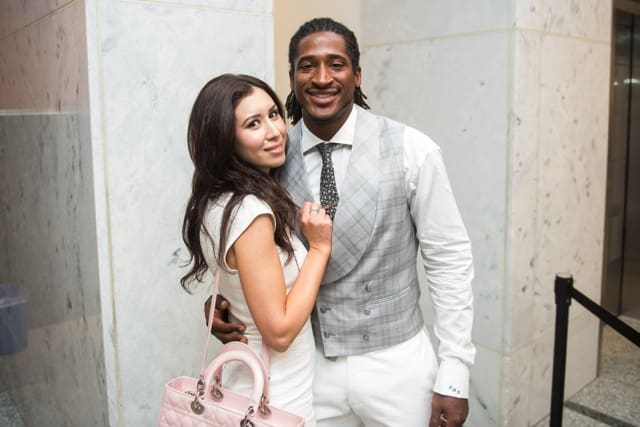 Andre Roberts poses with guest