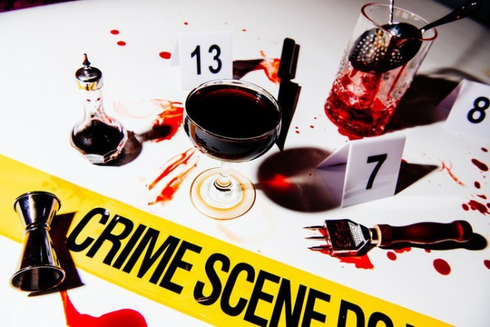 crime scene cocktails halloween decoration ideas